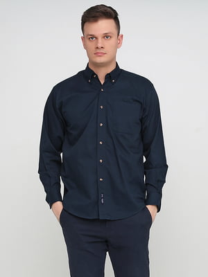 Рубашка темно-синяя | 5280373
