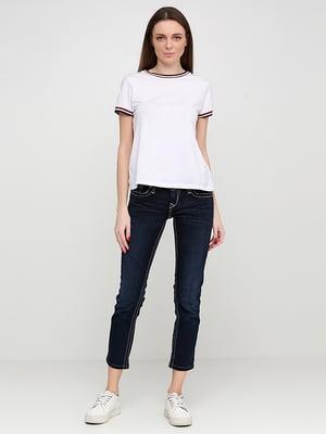 Капри темно-синие джинсовые | 5280428