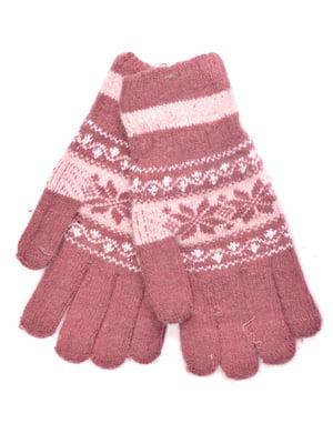 Перчатки малинового цвета | 5281348