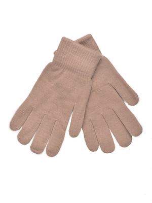Перчатки бежевые | 5281366