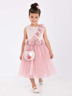 Платье цвета пудры | 4141588