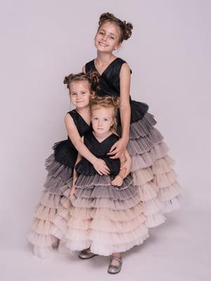 Платье черно-нюдовое | 5219270