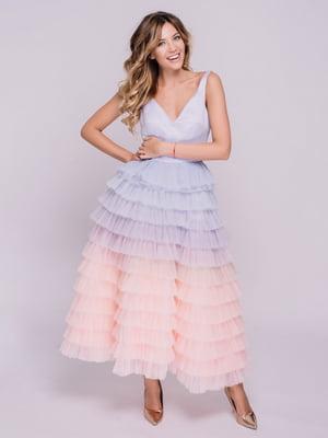 Сукня лілово-персикова | 5219271