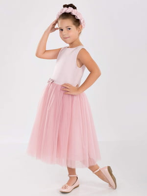 Сукня кольору пудри | 5219283