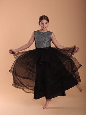 Сукня чорно-срібляста | 5281506