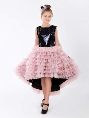 Платье черно-розовое | 5281521