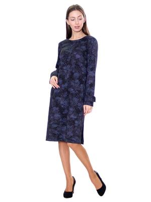 Сукня синя у принт | 5281531