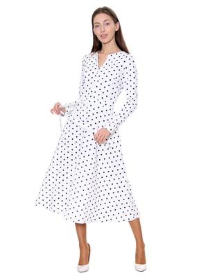 Платье белое в принт   5281539