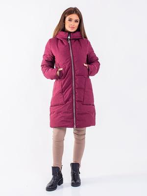 Пальто бордовое | 5281656