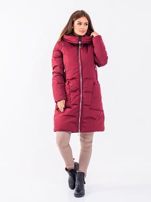Пальто бордовое | 5281668