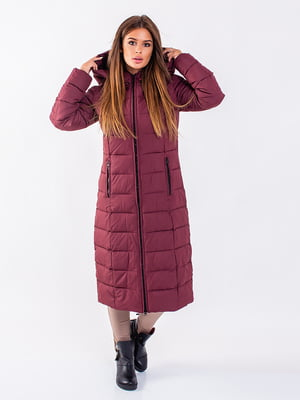 Пальто бордовое | 5281681