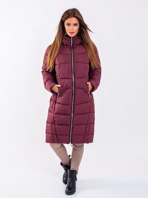 Пальто бордовое | 5281687