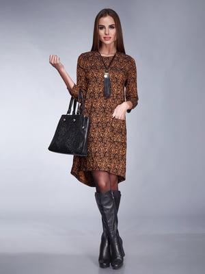Сукня чорно-коричнева | 5281927