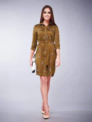 Платье цвета хаки | 5281949