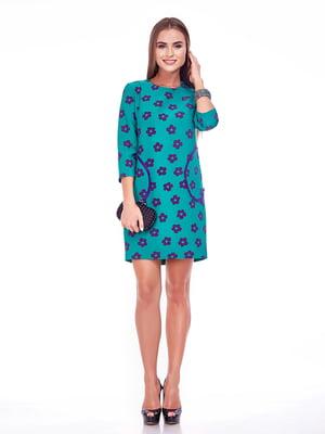 Платье бирюзово-фиолетовое   5281959