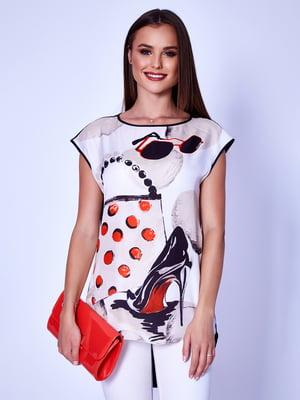 Блуза молочного цвета   5282021