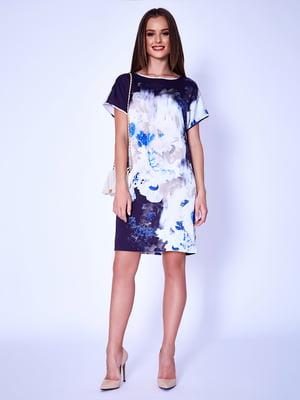 Платье бело-синее | 5282023
