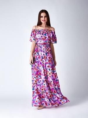 Платье сиреневое | 5282094