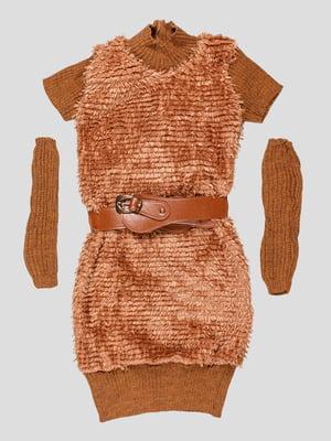 Платье коричневое | 5280579
