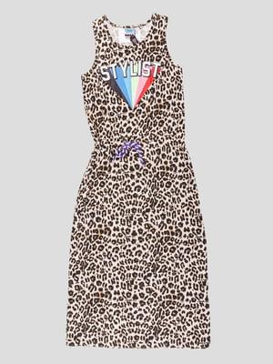 Сарафан із леопардовим принтом | 5280539
