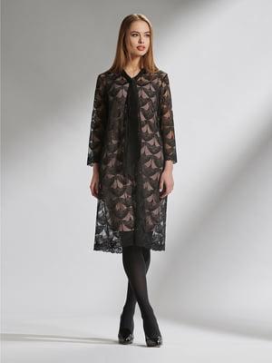 Платье черное с узором | 5282477