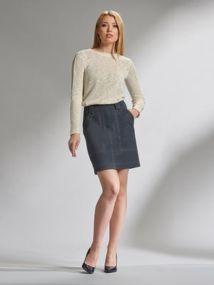 Блуза цвета бежевый меланж | 5282519