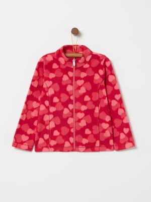 Кардиган рожевий в принт | 5271701