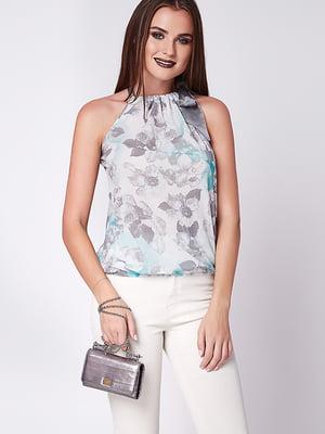 Блуза мятно-серая | 5282064