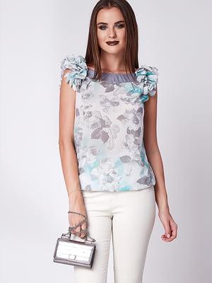 Блуза мятно-серая | 5282065