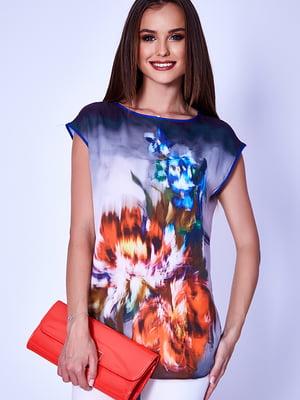 Блуза синяя   5282025