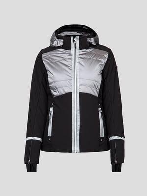 Куртка черно-серебристая лыжная | 5259985