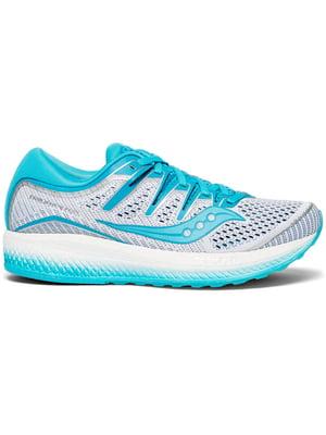 Кроссовки бело-голубые | 5260990