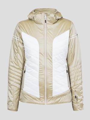 Куртка бело-бежевая лыжная | 5259984