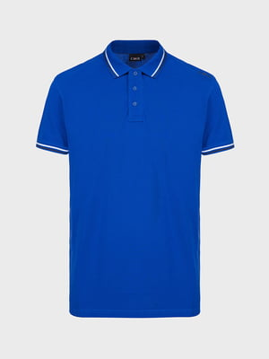 Футболка-поло яскраво-синя | 5260130