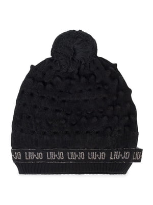Шапка чорна з візерунком і логотипом   5152500