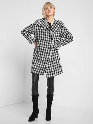 Пальто черно-белое   5282945
