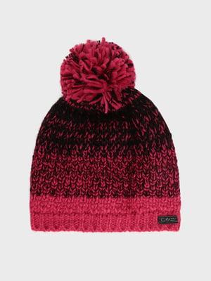 Шапка чорно-рожева   5260223