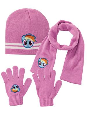 Комплект: шапка, шарф і рукавички   5283580