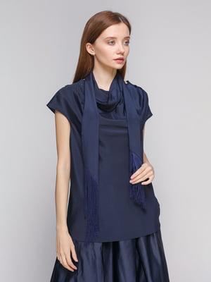 Блуза темно-синяя | 5279582