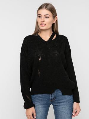 Пуловер чорний | 5284431