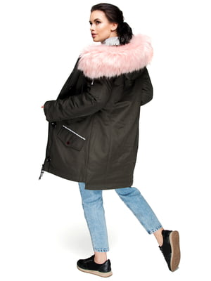 Куртка кольору хакі | 4683466