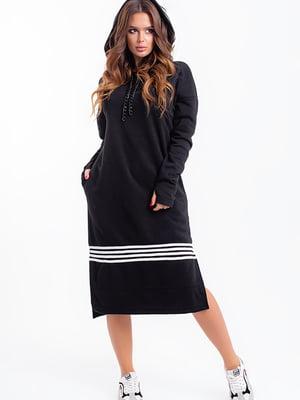 Сукня чорна смугаста | 5284599