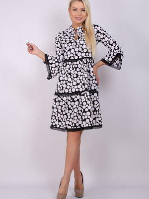 Платье черно-белое в горох | 5284604