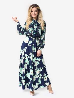 Сукня синьо-бірюзова | 5283814