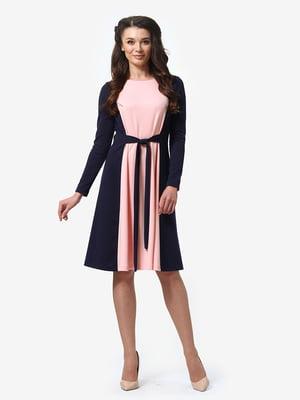 Платье розово-синее   5283816