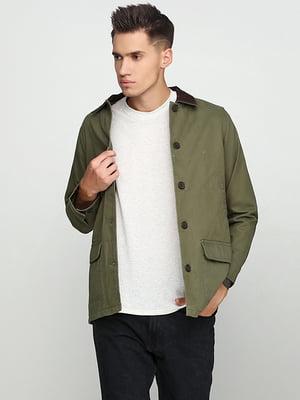 Куртка оливково-зеленого цвета | 5284930