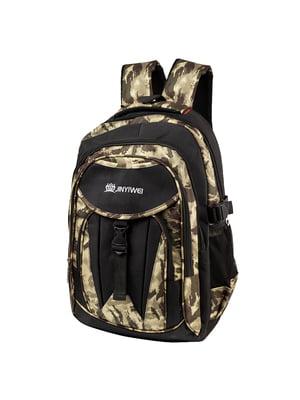 Рюкзак чорний з принтом   5285183