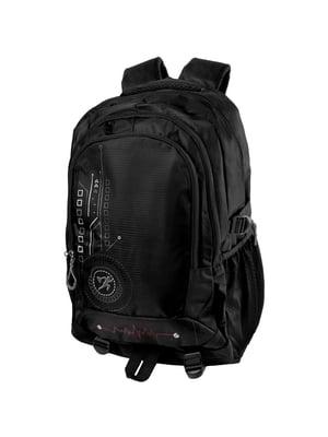 Рюкзак черный с принтом | 5285259