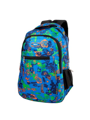 Рюкзак синий с принтом | 5285302