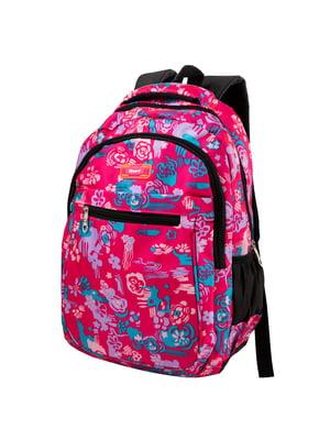 Рюкзак розовый с принтом | 5285303